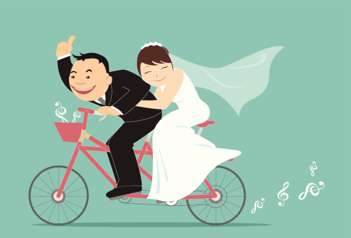 cartoon wedding engagement