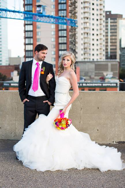 colourful neon wedding theme