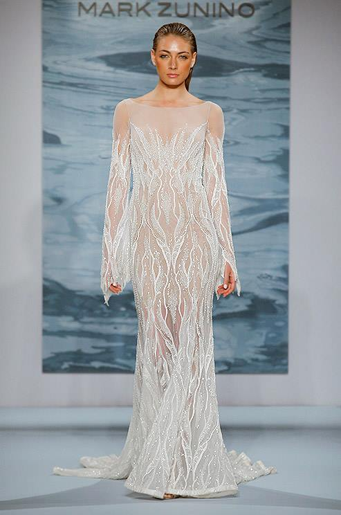 Mark Zunino nude wedding gown