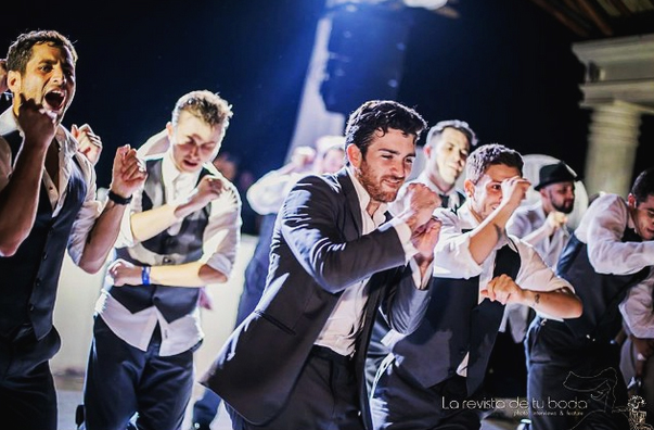 professional dancers - groomsmen