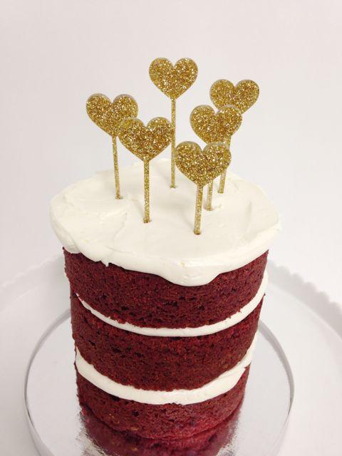naked cake gold glitter