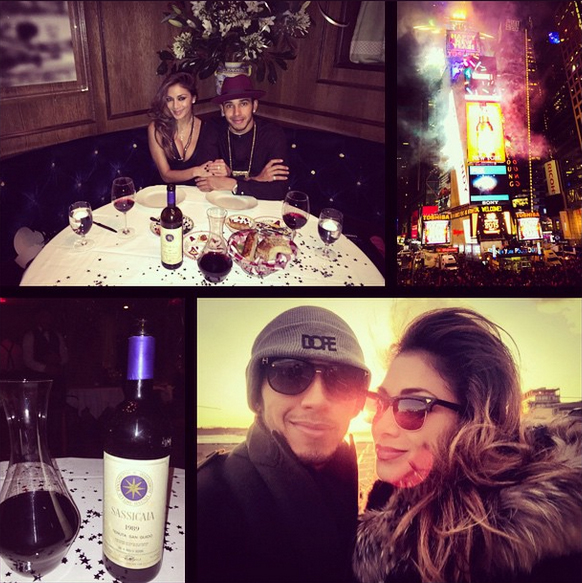 Lewis Hamilton shared the picture above on his Instagram page with the caption: #latergram Merry New Year!!! @nicolescherzy & I are wishing you all success & happiness in 2015 #NYC #blessings #GodBless