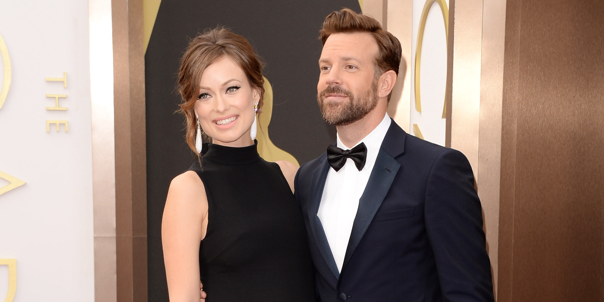 Olivia Wilde and Jason Sudeikis at the Oscars 2014