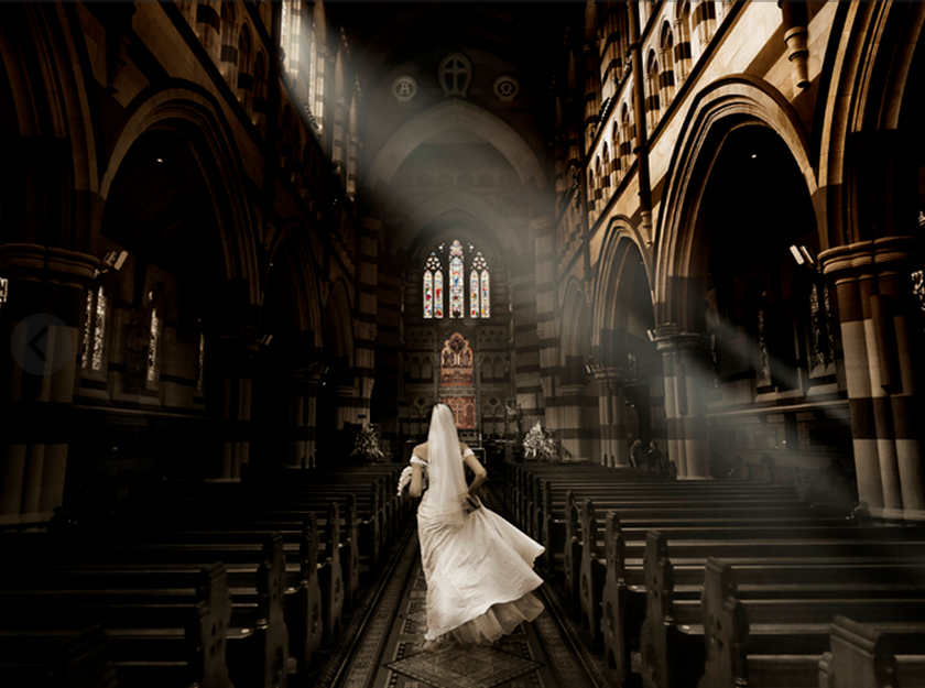 Haunting wedding photography