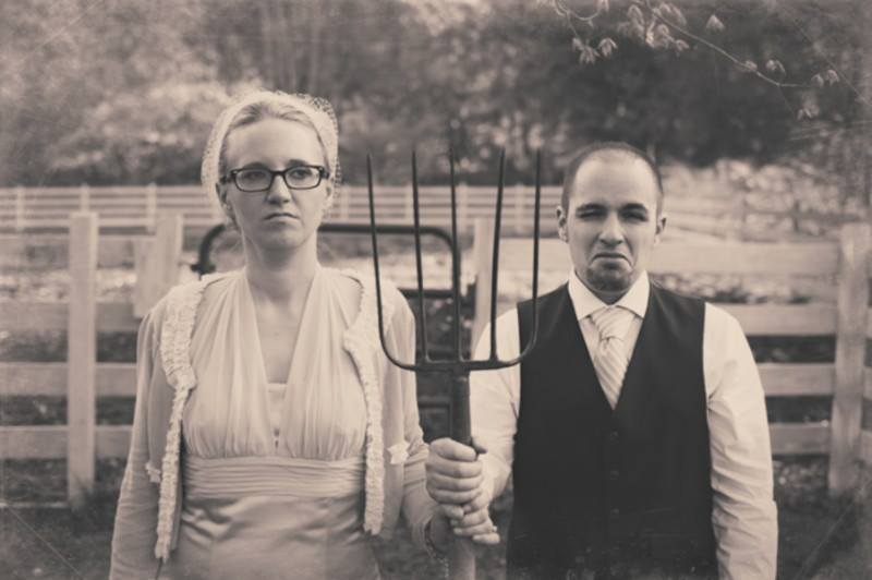 american gothic wedding replica