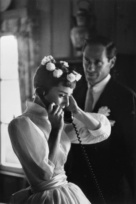 audrey hepburn wedding photo with mel ferrer