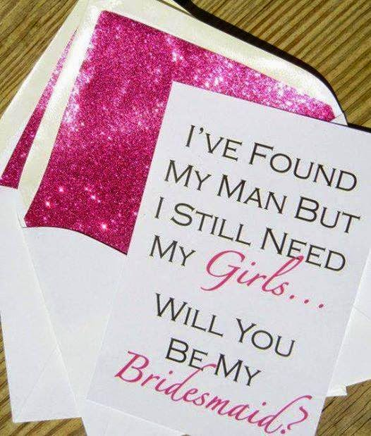 be my bridesmaid invitation