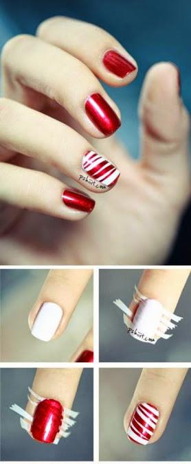 christmas wedding nail art