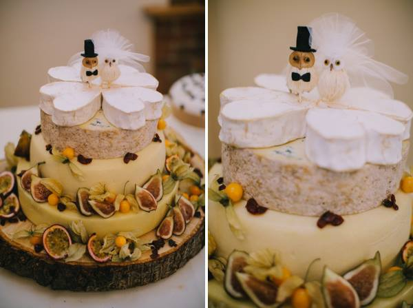 creative cheeswheel wedding cake