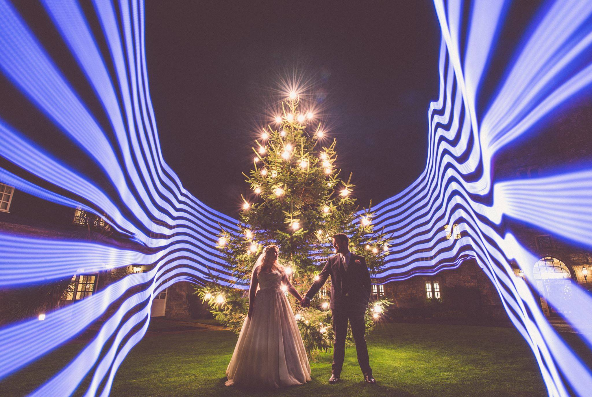 light painting in wedding photography