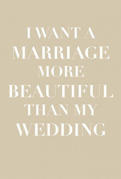 Marriage more beautiful than my wedding