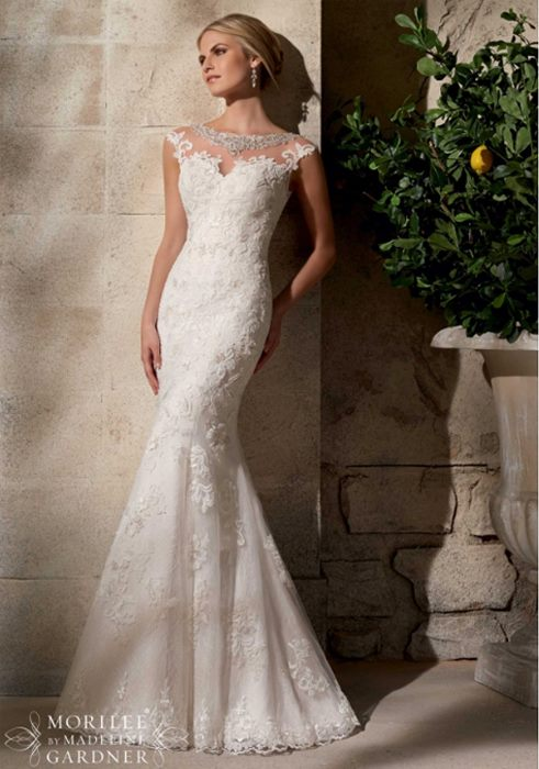 Mermaid wedding gown by Mori Lee Madeline Gardner