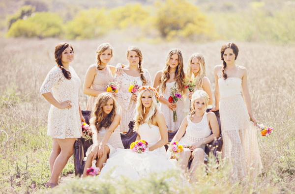 short-boho-bridesmaid-gowns