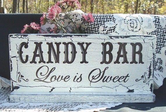 Wedding candy bar - Love is Sweet