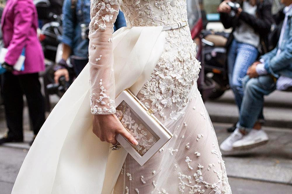 wedding clutch that matches the gown
