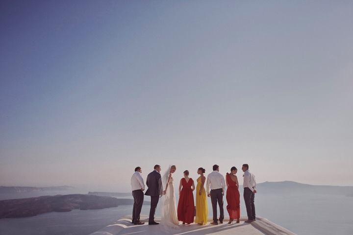 greek wedding photos on santorini