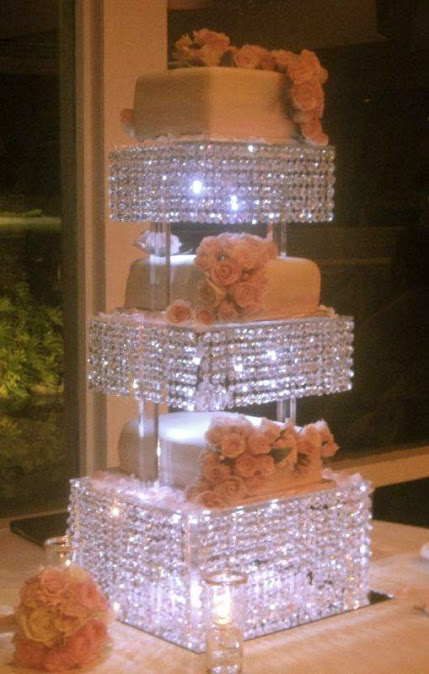 wedding cake with lots of bling