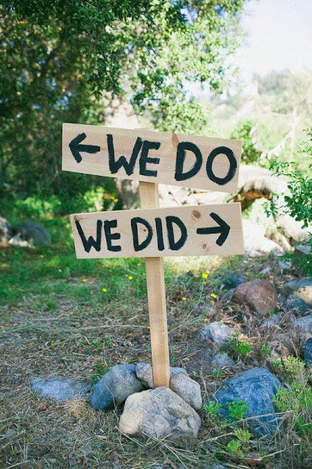 We Do - We Did wedding sign