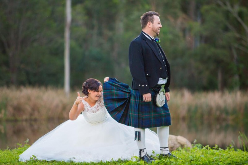 Terrific tartan: Jane & Dougie\'s Scottish wedding