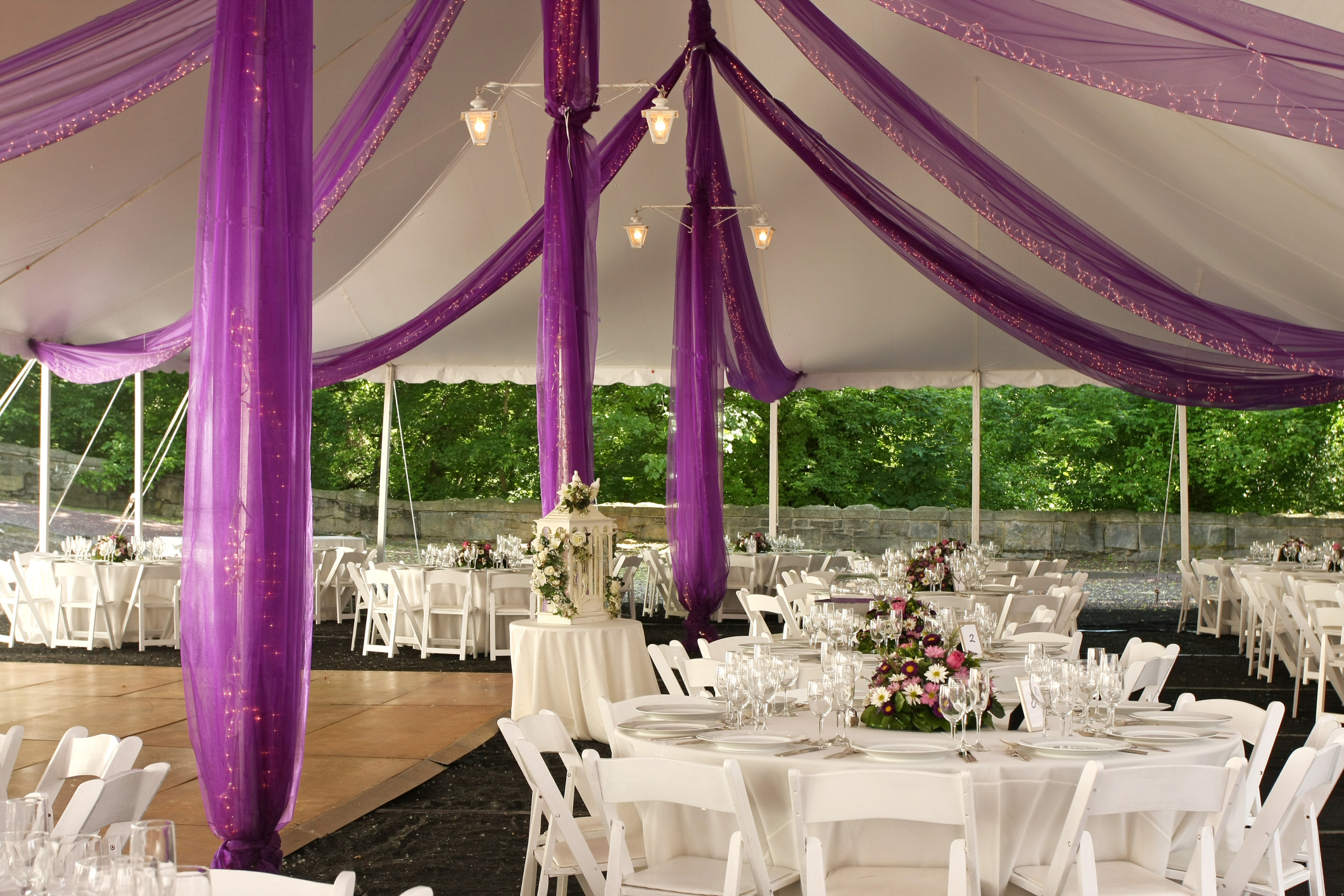 Marquee decoration articles easy weddings for Backyard engagement party decoration ideas