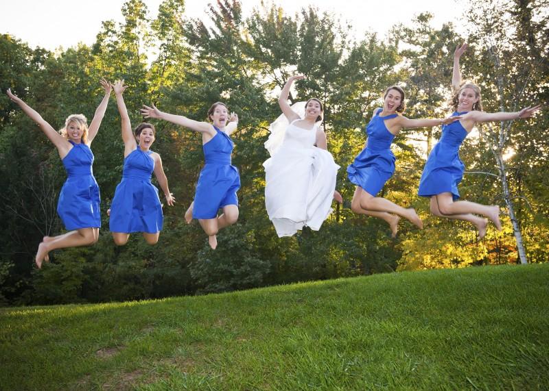 wedding photography bride and bridesmaids