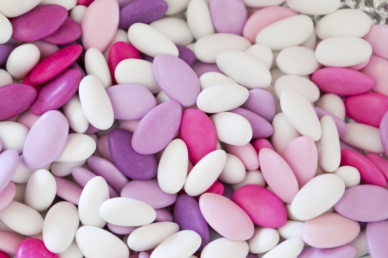 sugar coated almonds