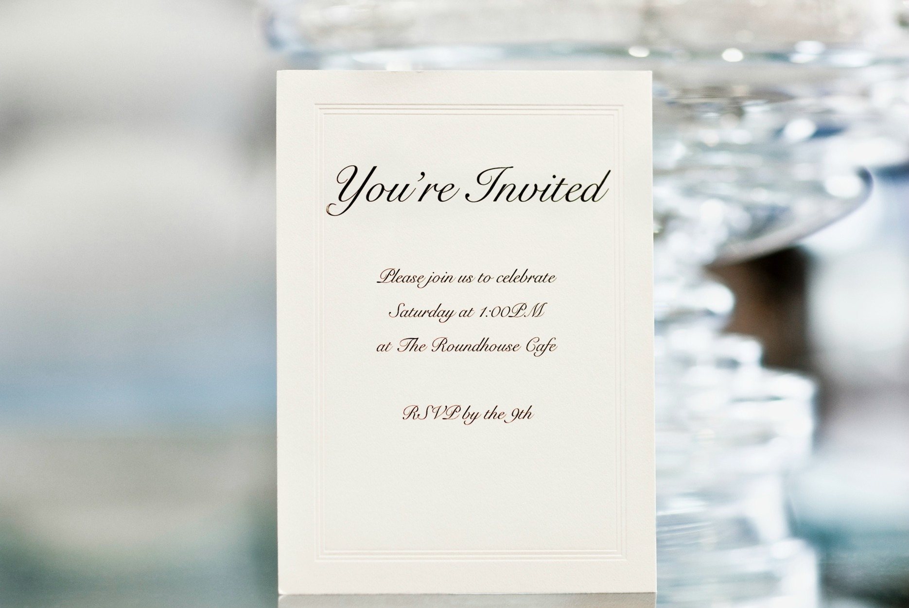 invitation wording: