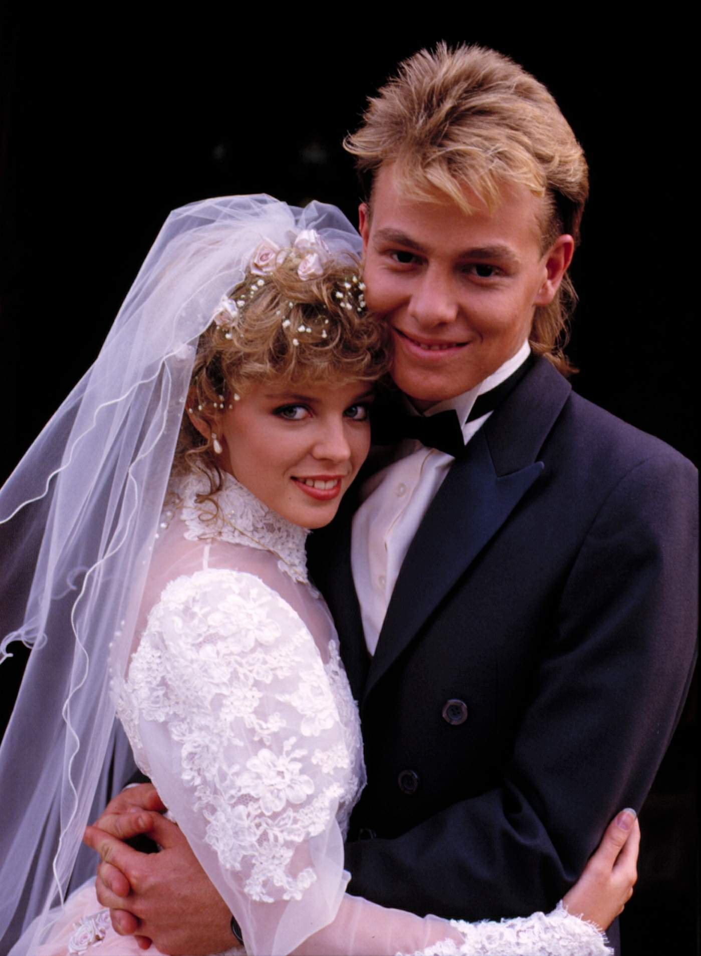 Scott and Charlene's wedding was a seminal television moment in Australia - as was the bride's gown!