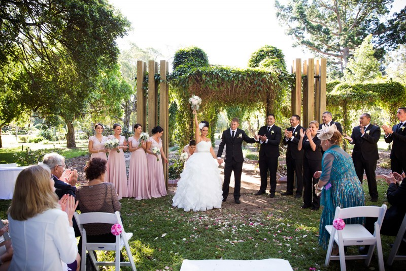 Victoria & Kevin's Glamorous Garden Wedding In Brisbane