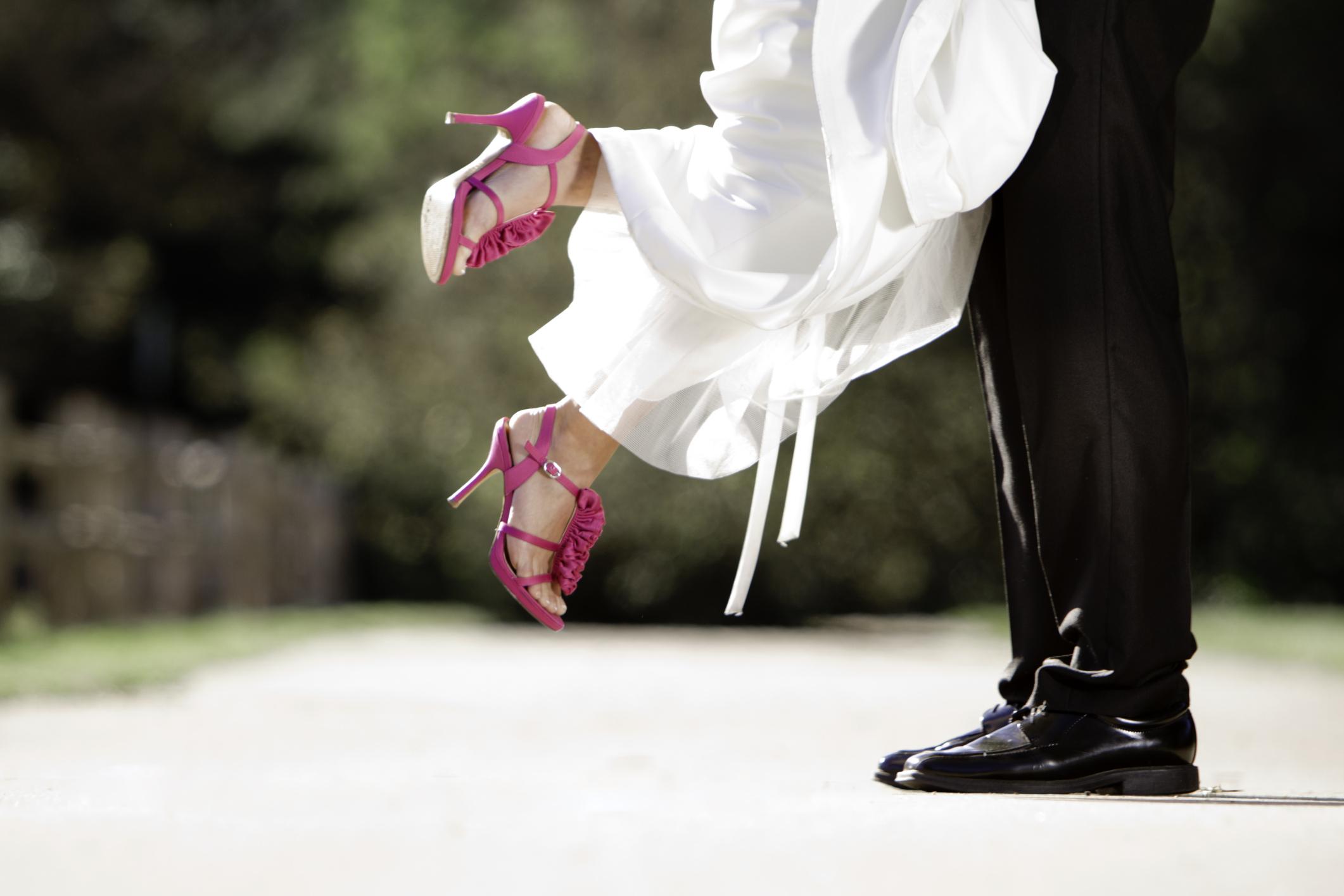 15c4e2b27d2e Wearing high heel bridal shoes