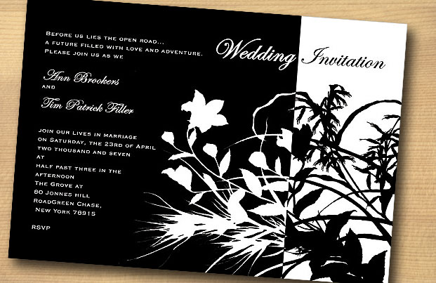 10 black and white invitations