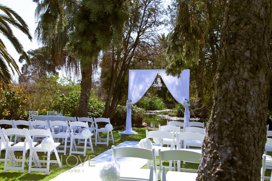 Outdoor Wedding Ceremony Locations: Footscray Gardens